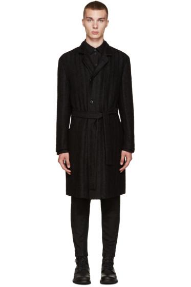 Ann Demeulemeester - Black Belted Coat