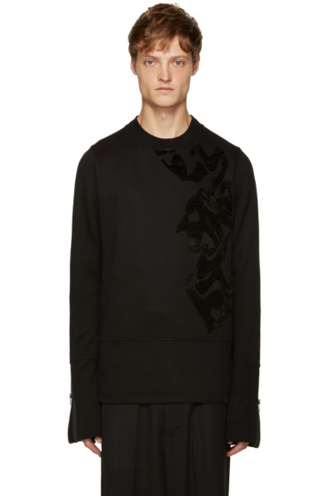 Ann Demeulemeester - Black Embroidered Pullover