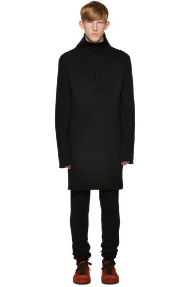 Ann Demeulemeester - Black Knit Turtleneck