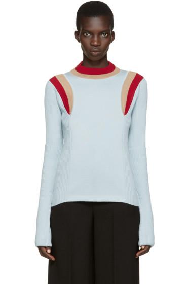 Marni - Blue Striped Collar Sweater