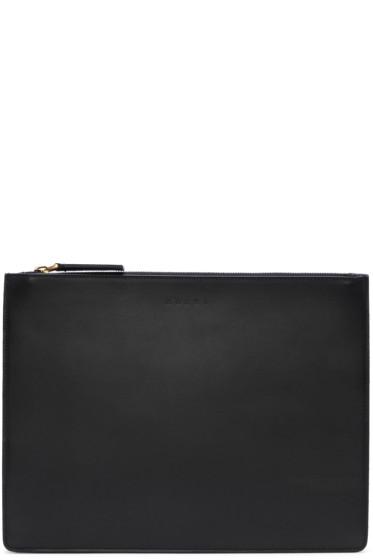Marni - Black Leather Document Holder