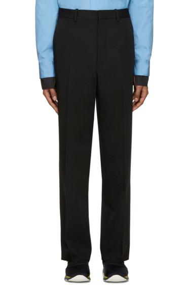 Marni - Black Wool Straight Trousers