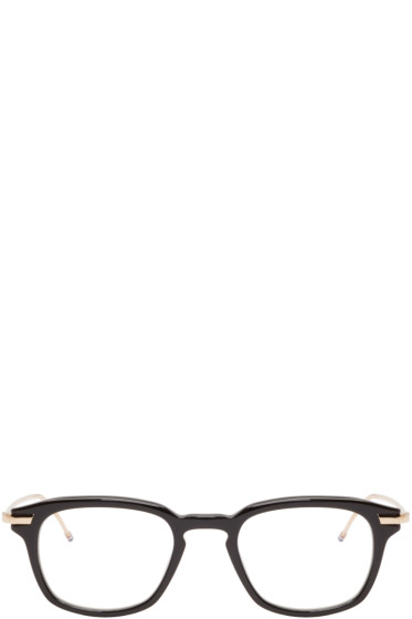 Thom Browne - Black & Gold Acetate Glasses