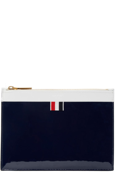 Thom Browne - Tricolor Patent Zip Pouch