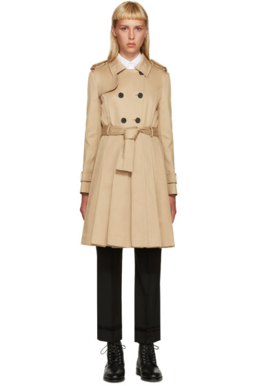 Thom Browne - Khaki Pleated Trench Coat