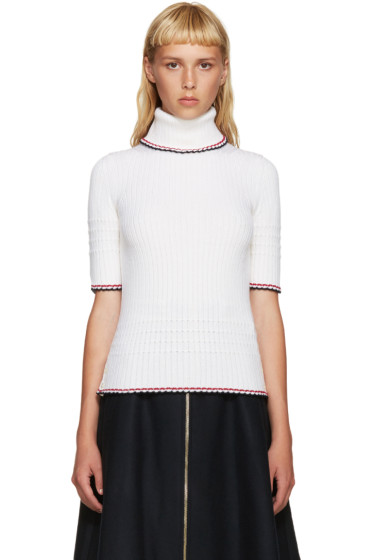 Thom Browne - Ivory Wool Turtleneck