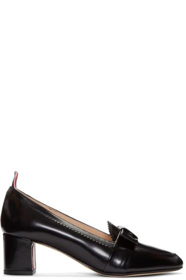 Thom Browne - Black Bow Loafer Heels