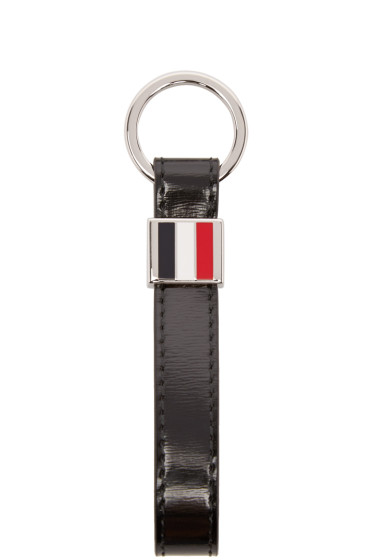 Thom Browne - Black Patent Leather Keychain