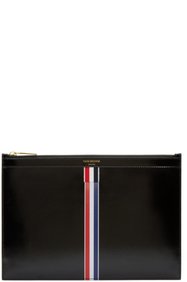 Thom Browne - Black Small Striped Document Holder