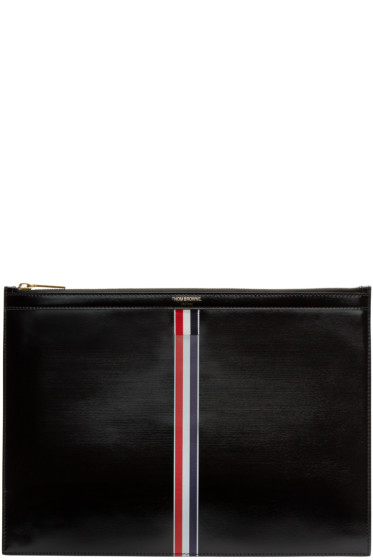 Thom Browne - Black & Tricolor Medium Document Holder