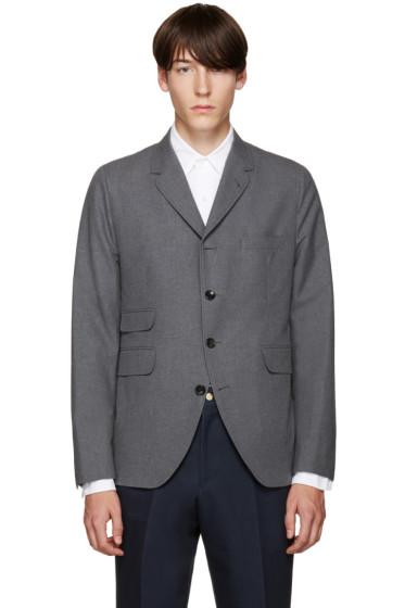 Thom Browne - Grey Cotton 5-Button Blazer