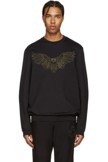 Markus Lupfer - Black Embroidered Owl Pullover