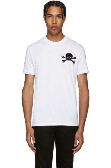 Markus Lupfer - White Small Skull T-Shirt