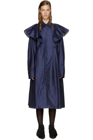 Kenzo - Navy Poplin Oversized Dress