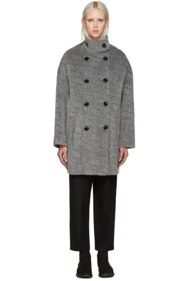 Kenzo - Grey NY Stripes Coat