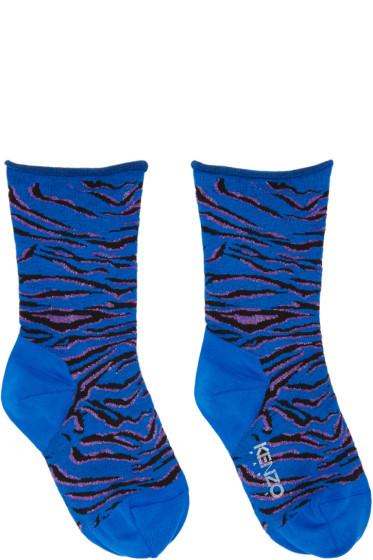Kenzo - Blue Tiger Stripe Socks