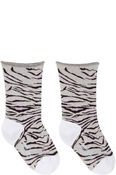 Kenzo - Grey Tiger Stripe Socks