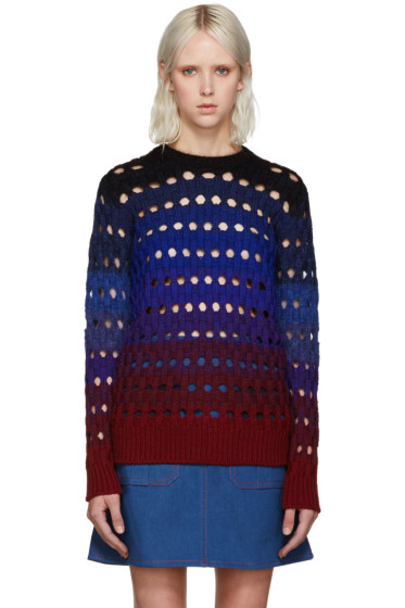 Kenzo - Blue Basketweave Sweater