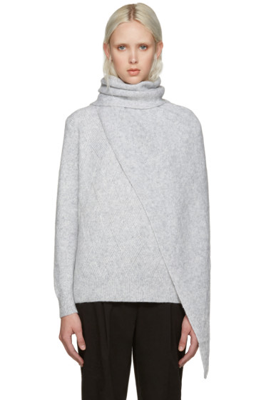Kenzo - Grey Shawl Sweater