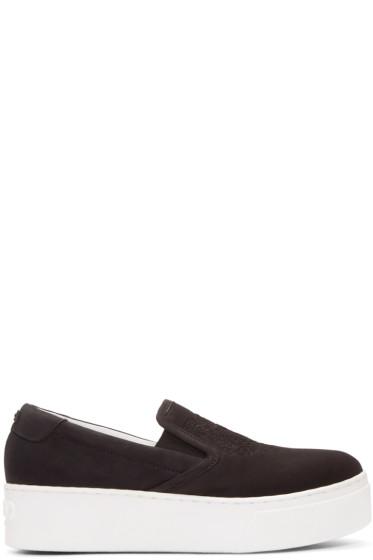 Kenzo - Black Suede Tiger Slip-On Sneakers