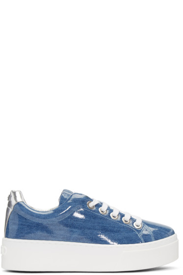 Kenzo - Blue Platform Denim Sneakers