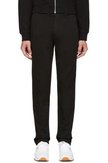 Kenzo - Black Gabardine Chino Trousers