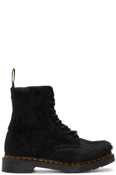 Dr. Martens - Black Horse Hair 1460 Pascal Boots