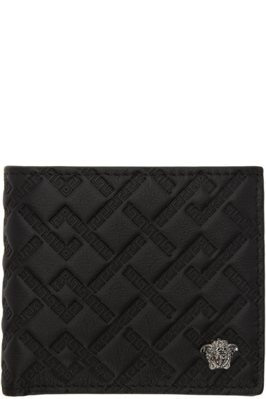 Versace - Black Greek Key Wallet