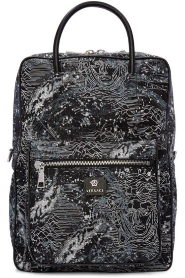Versace - Black Constellations Print Backpack
