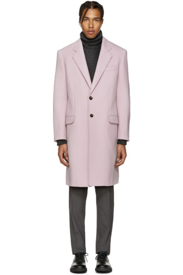 Versace - Pink Wool Coat