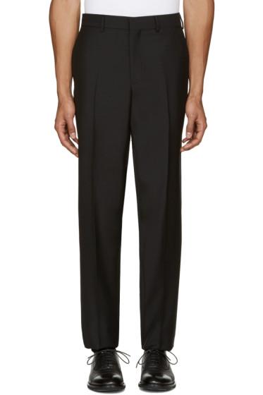 Versace - Black Wool Trousers
