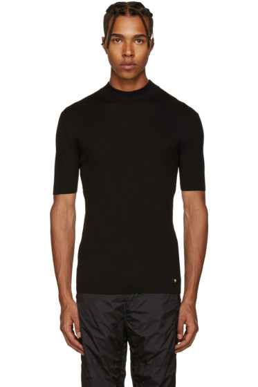 Versace - Black Ribbed Sweater