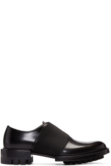 Versace - Black Leather Band Loafers