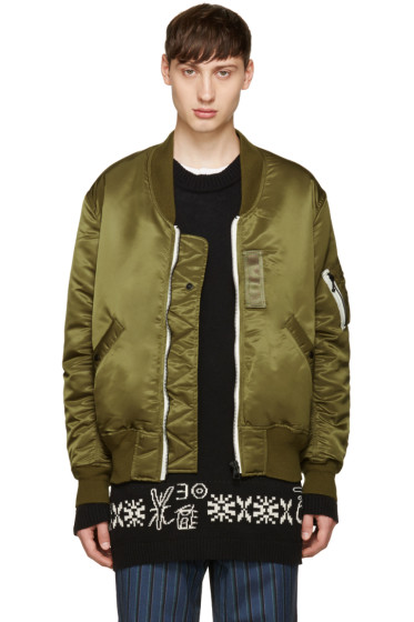 Sasquatchfabrix - Green Do Not Kill Korosuna Flight Jacket