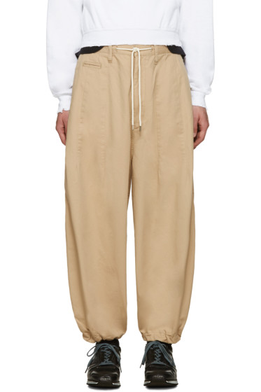 Sasquatchfabrix - Beige Balloon Chino Pants