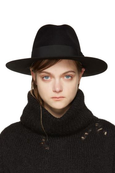Saint Laurent - Black Felt Bowie Fedora