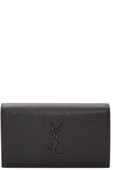 Saint Laurent - Black Monogram Kate Clutch