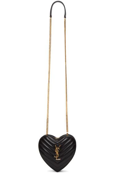 Saint Laurent - Black Love Monogram Shoulder Bag