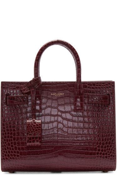Saint Laurent - Burgundy Baby Sac de Jour Tote