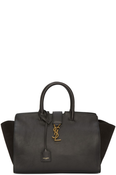 Saint Laurent - Black Small Cabas Monogram Bag