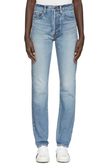 Saint Laurent - Blue Original 90's High Waisted Jeans