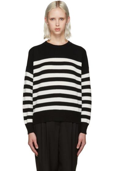 Saint Laurent - Black & White Stripe Crewneck