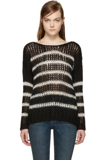 Saint Laurent - Black & White Striped Sweater