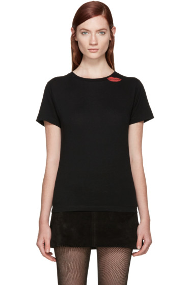 Saint Laurent - Black Lips Stamp T-Shirt