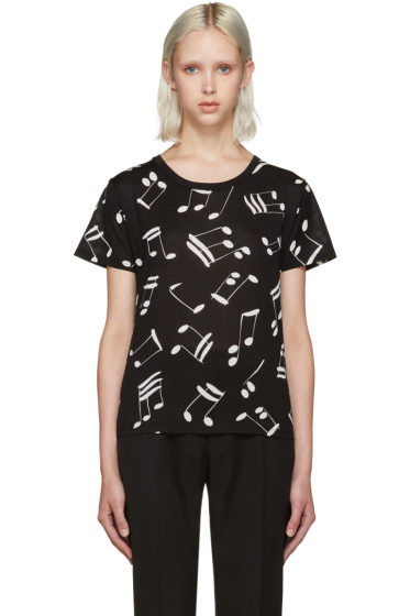 Saint Laurent - Black Music Note T-Shirt