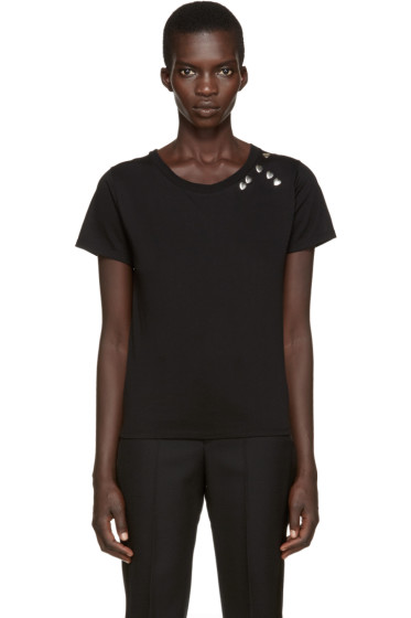 Saint Laurent - Black Heart Studs T-Shirt