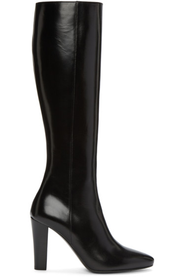 Saint Laurent - Black Leather Lily Boots