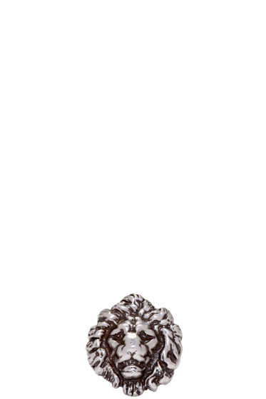 Saint Laurent - Silver Lion Head Ring