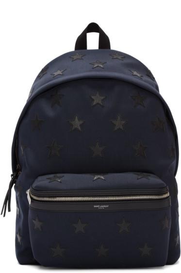 Saint Laurent - Navy Stars Backpack