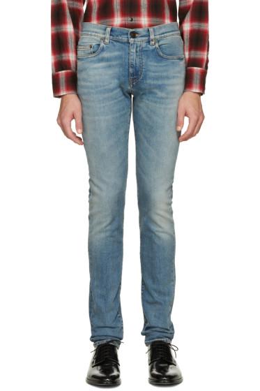Saint Laurent - Blue Original Low Waisted Skinny Jeans